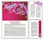 Pink Ornament Word Template