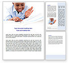 Education & Training: Learning Boy Word Template #07751