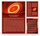 Red Spiral Word Template