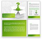 Consulting: Question Man Word Template #08088