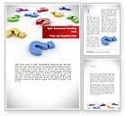 Consulting: Question Marks In Various Colors Word Template #08641