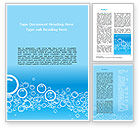 Aqua Bubble Word Template