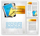 Business Plan Stack Of Papers Word Template