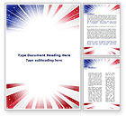 American Flag Stylized Word Template #09079 - small preview