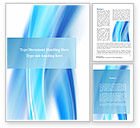 Abstract Blue Word Template