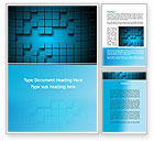 Abstract Surface Of The Squares With Spaces Word Template