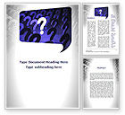 Question+and+answer: Question Mark Speaking Bulb Word Template #10001