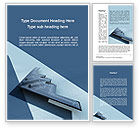 Military: Northrop Grumman B-2 Spirit Word Template #10067