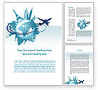 Cliparts-features: Round The World On A Plane Word Template #10091