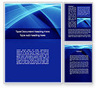 Intersecting Blue Surfaces Word Template