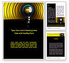 Business Concepts: Incandescent Lighting Word Template #10545