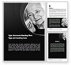 Old+paper: Geriatric Woman Word Template #11274