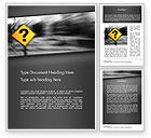 Education & Training: Question Mark Road Sign Word Template #11493