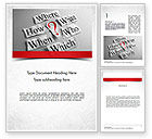 Business Concepts: Curiosity Questions Word Template #11517