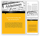 Old+paper: Alzheimer's Disease Word Template #11744