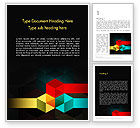 Abstract Geometric Shapes Word Template