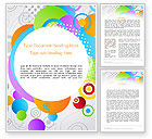 Abstract Colored Circles Word Template