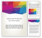 Colorful Triangle Mesh Word Template