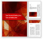 Geometric Red Word Template