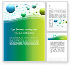 Abstract 3D Bubble Diagram Word Template