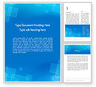 Abstract Blue Squares Word Template