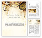 Education & Training: Compass Rope and Glasses on Old Paper Word Template #13335