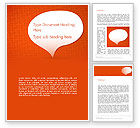 Speech Bubble on Orange Background Word Template