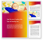 Education & Training: Boy with Tangram Puzzles Word Template #13733