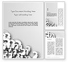Business Concepts: Faces With Question Marks Word Template #13848