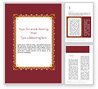 Education & Training: Certificate of Achievement Frame Word Template #14153