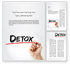3D: Hand Writing Detox with Marker Word template #14189