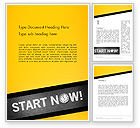 Business Concepts: Start Now Word Template #14204