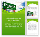 Education & Training: Education Just Ahead Green Road Sign Word Template #14222