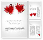 Holiday/Special Occasion: Two Hears Word Template #14223