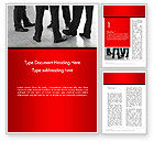 Business: Business People Standing Word Template #14234