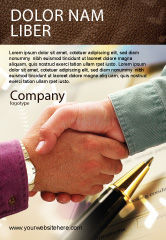 Business: Signing Agreement Ad Template #00925