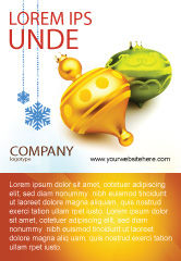 Holiday/Special Occasion: Decorations Of New Year Ad Template #02886