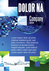 Nature & Environment: Blue Water Ad Template #07546