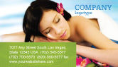 Holiday/Special Occasion: Spa Business Card Template #02307