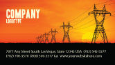Utilities/Industrial: Transmission Facilities Business Card Template #03380