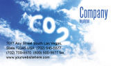 Nature & Environment: Carbonic Acid Business Card Template #03601