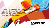 Art & Entertainment: Oil Painting Business Card Template #03873