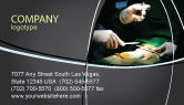 Medical: Surgical Incision Business Card Template #04619