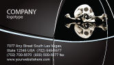 Education & Training: Skull And Bone Business Card Template #04834