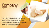 Education & Training: Little Feet Business Card Template #04837