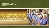 Medical: Medical Personnel In Hospital Business Card Template #05749