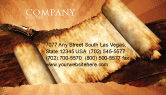 Education & Training: Ancient Scroll Business Card Template #06539