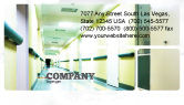 Medical: Hospital Hallway Business Card Template #06928