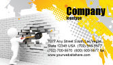 Business Concepts: Breaking the Wall Business Card Template #07058