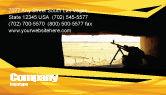 Military: Machine Gun Business Card Template #07308